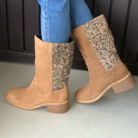 1f187d105a7 Embellished Genuine Suede Tall Western Boots